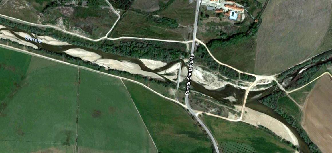 Flußkreuzung Sor und Raia zum Fluß Sorraia