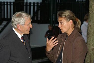 Dr. Georg Olms mit Monika Lehmenkühler beim Araber Event