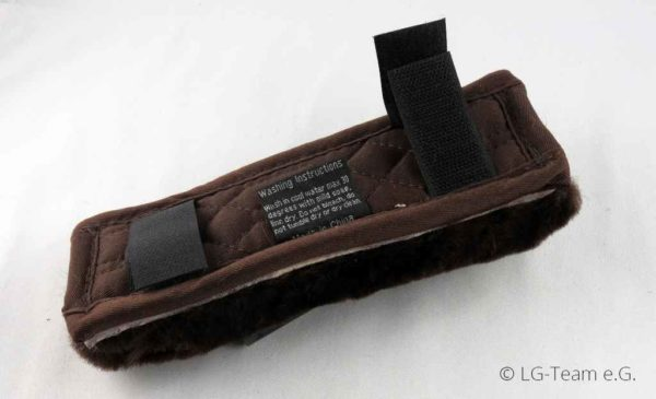 Lammfellschoner Klettverschluss braun LG-Zaum