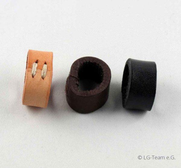 Lederschlaufen drei Farben LG-Zaum