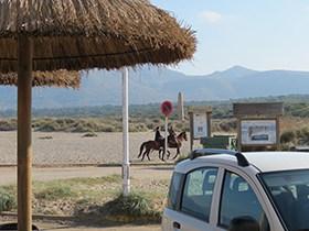 Spanien reiten am Strand